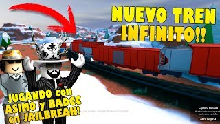 THE LONGEST TRAIN OF ALL JAILBREAK!! ASIMO TEACHES ME THE NEW TRAIN IN EXCLUSIVE!! Roblox