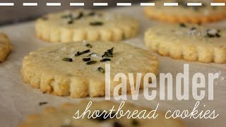 How To Make Lavender Shortbread Cookies | Rachel Republic