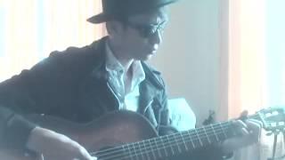 Lang nghe nuoc mat guitar