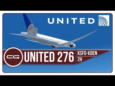 P3D v3.4 | KSFO (San Francisco) - KDEN (Denver) | UAL276X | PMDG 777-300ER