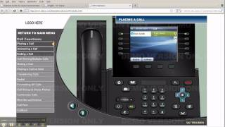 cisco 8961 and 9951 and 9971 phone training placing a call