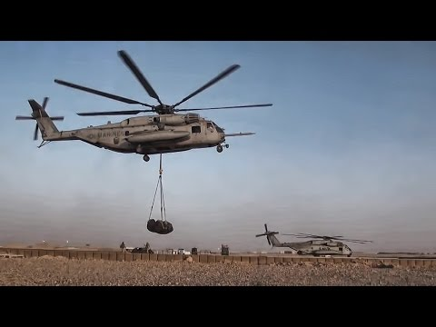 Super Stallions Sling Load Fuel To FOB • Afghanistan