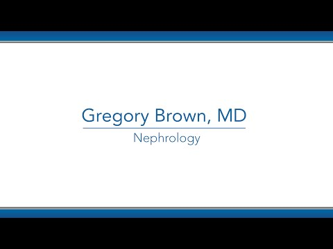 Gregory Brown, MD video thumbnail