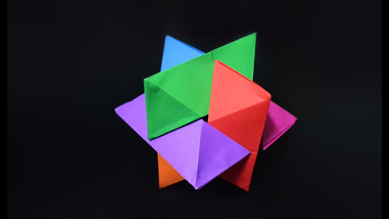 Origami: Puzzle Six Pieces / Burr Puzzle - Instructions in English (BR)