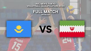 KAZ vs. IRI - Full Match | AVC Men's Tokyo Volleyball Qualification 2020
