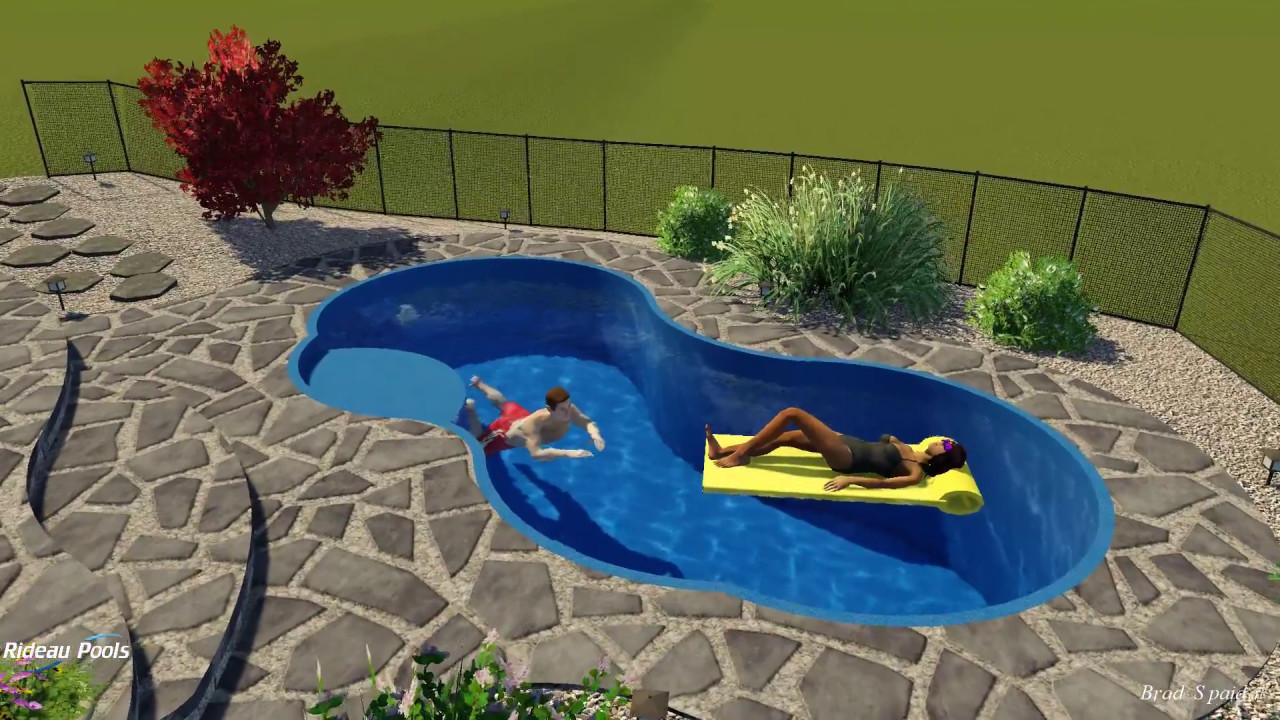 Picasso fiberglass pool design by rideau pools ottawa for Pool design ottawa