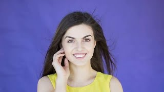 Caucasian Girl Smiling For Camera Stock Video