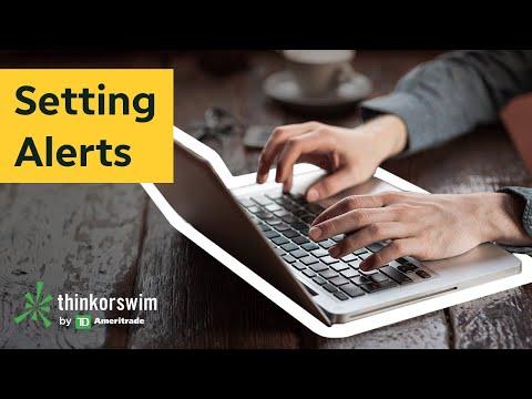 Creating Alerts on thinkorswim®