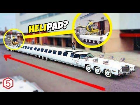 Mobil Terpanjang di dunia Yang Punya Kolam Renang dan Helipad