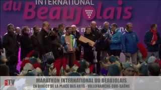 Marathon International du Beaujolais 2015 - Podium et remises des prix