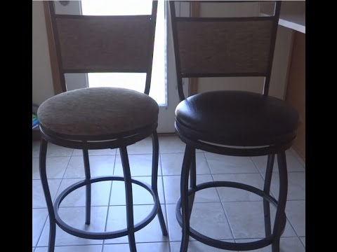 Upholstery round seat convert cloth to faux leather