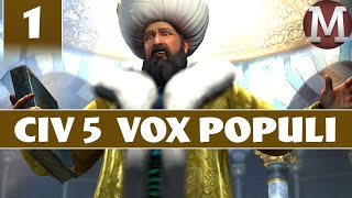 Civilization 5 - Let's Play Vox Populi as Ottoman Empire - Part 1 [Modded Civ 5 Gameplay]