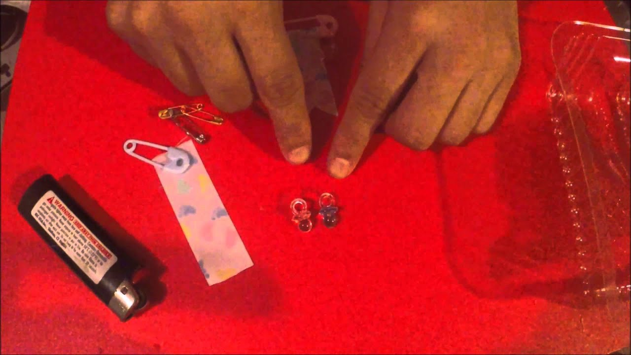 How To Make Baby Shower Guest Pins Youtube