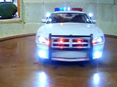 1 18 Border Patrol Dodge Charger Police Diecast Car Lights