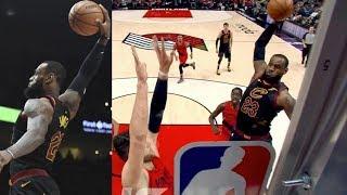 LeBron Dunks on Nurkic! Blazers 11 Game Win Streak! 2017-18 Season