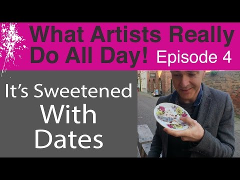 What Artists Really Do All Day - Contemporary Modern Art Volg: Ep 4 (It's Sweetened With Dates!)