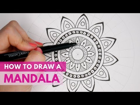 How to Draw a Mandala | Beginners Drawing Tutorial | Mandala Art thumbnail