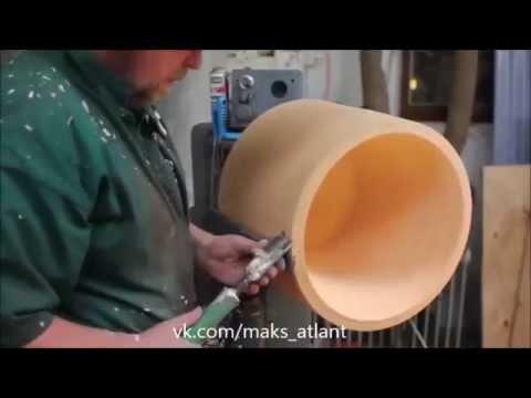 Изготовление прозрачного торшера из дерева.