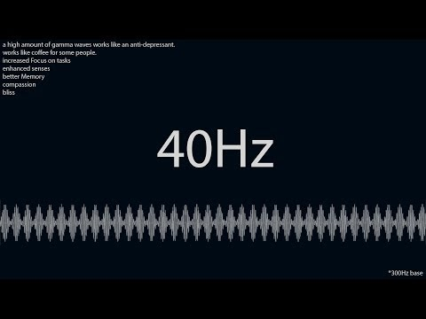 Isochronic: 40Hz gamma @ 300Hz - focus, consciousness, learning, bliss, compassion