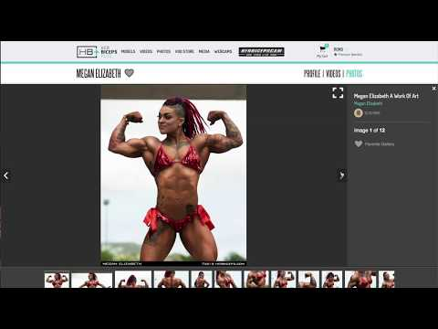 HUGE FEMALE BODYBUILDER Megan Elizabeth
