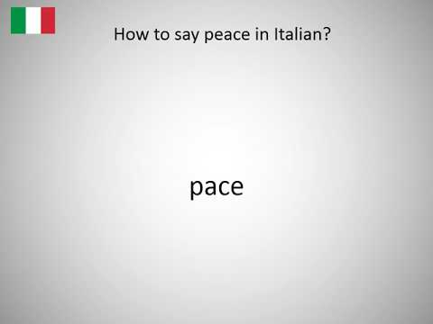 How To Say Peace In Italian Youtube