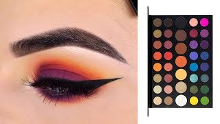 MORPHE X JAMES CHARLES ARTISTRY PALETTE | Sunset Eyeshadow Tutorial