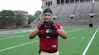 Crimson Football Skills: Catching a Pass