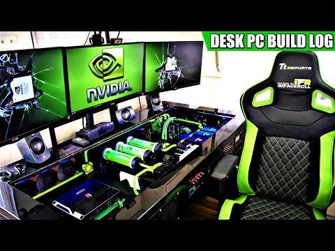 Ultimate DIY Desk PC Setup & Tour - Full Build Log 2017