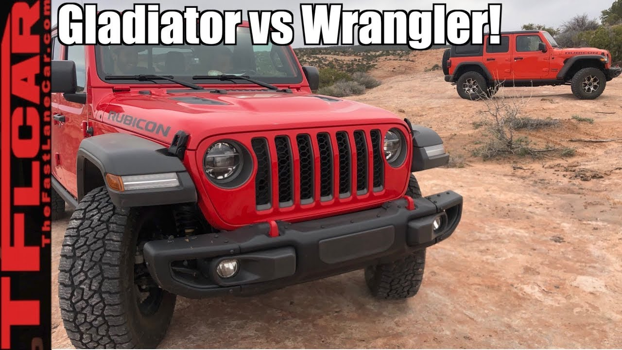 Jeep With Truck Bed >> Gladiator Vs Wrangler Is The Jeep Gladiator More Than Just A
