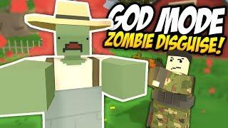 GOD MODE ZOMBIE DISGUISE TROLLING - Unturned Fake Zombie | Admin Trolling!