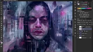 Mr Robot - Painting Elliot Alderson in Photoshop