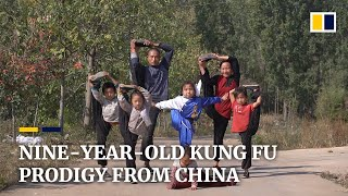 Nine-year-old Chinese kung fu prodigy's skills are a hit on social media