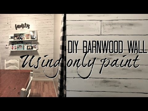DIY FAUX PAINTED BARNWOOD WALL // USING ONLY PAINT