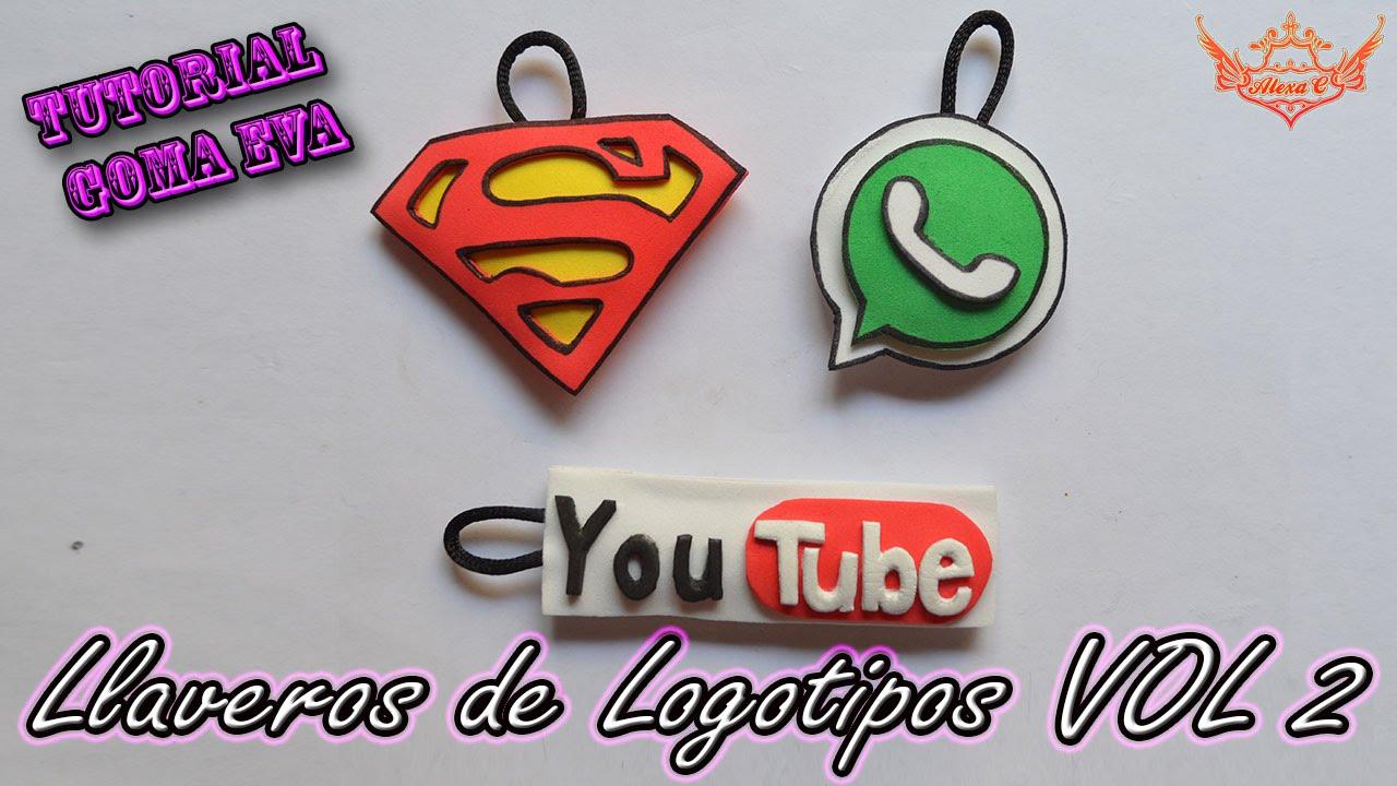 Tutorial Llaveros De Logotipos De Goma Eva Foamy Vol 2 Youtube