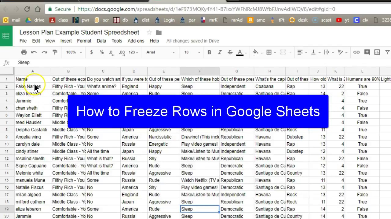How To Freeze Rows In Google Sheets Youtube