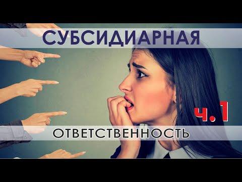 Субсидиарная ответственность директора, учредителя, бухгалтера и владельца бизнеса ч.1