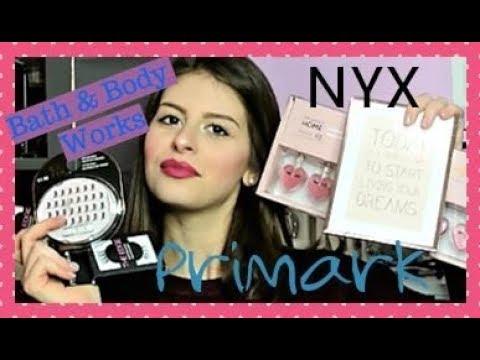 TANTISSIME CIGLIA FINTE DA MILANO! Haul Primark, Nyx e Bath & Body Works ||Arianna White
