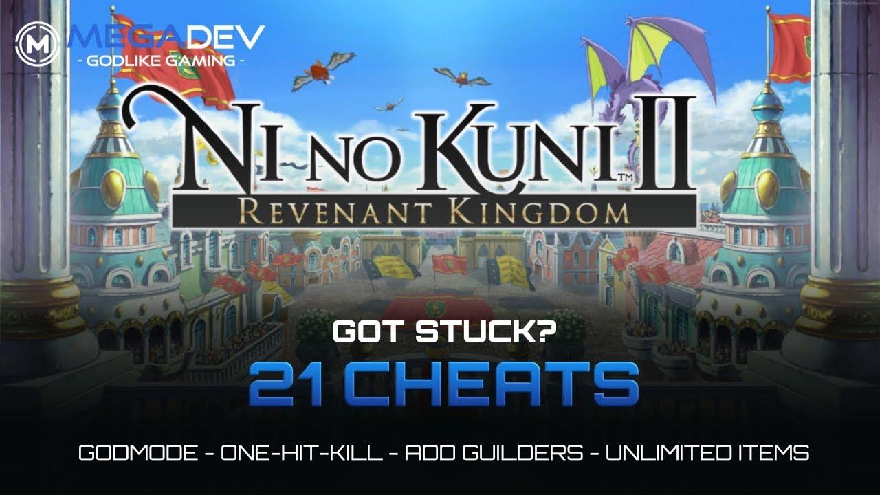 NI NO KUNI II Cheats: Godmode, OHK, Add Guilders, Items