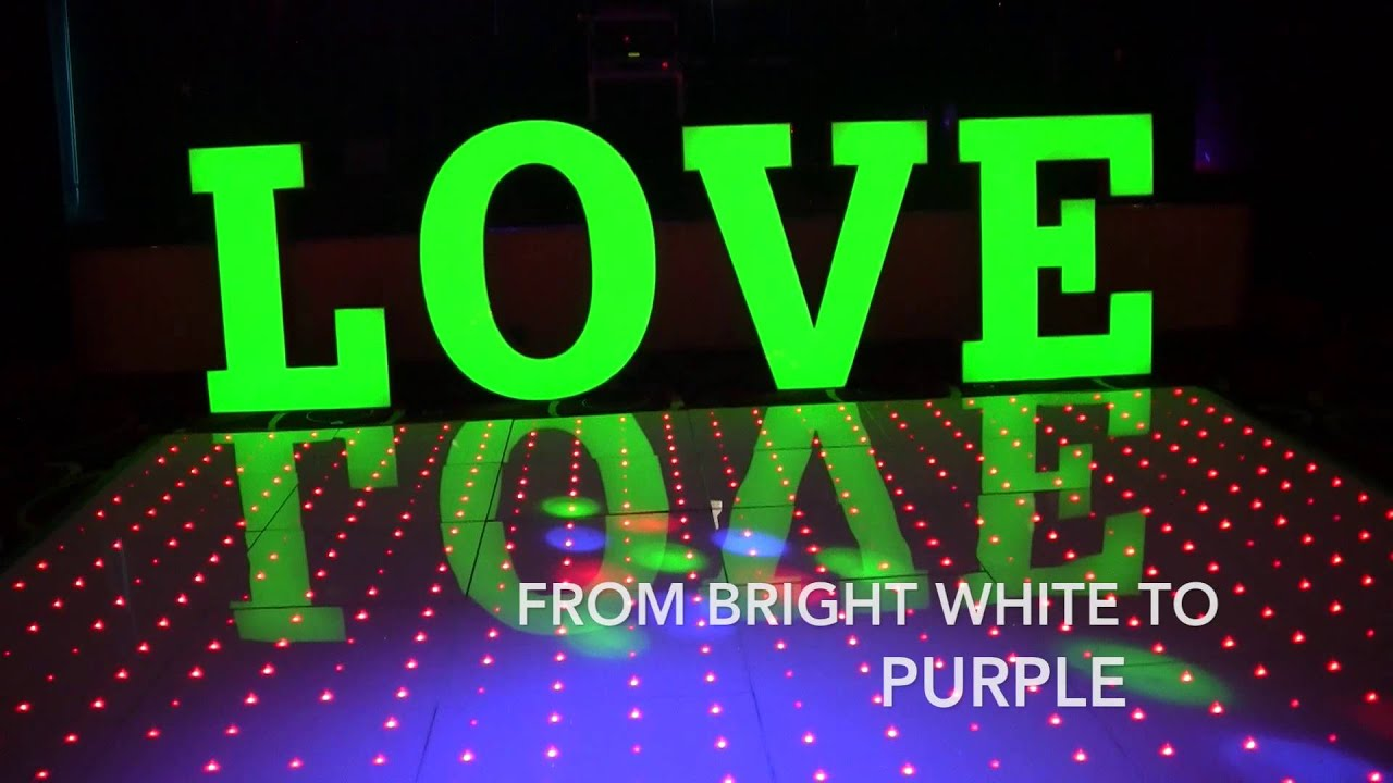 rock revolution s new led dance floor and giant colour love rock revolution s new led dance floor and giant colour love letters