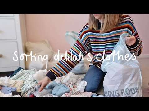 SORTING DELILAH'S CLOTHES | Rhiannon Ashlee Vlogs