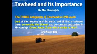 Tawheed and Its Importance