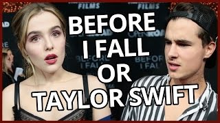 TAYLOR SWIFT VS BEFORE I FALL   Song Lyric or Line From Movie? w/ Kian Lawley & Zoey Deutch