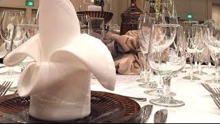Painted Plates & Fancy Folded Napkins
