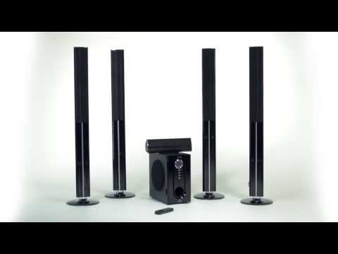 auvisio 5 1 surround sound system mit fernbedienung funnydog tv. Black Bedroom Furniture Sets. Home Design Ideas