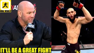 Dana White announces Khamzat Chimaev's opponent for his next fight on Dec 19,Khabib Gaethje,UFC 254