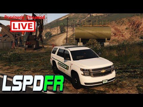 GTAV LSPDFR LIVE 18! LOS SANTOS COUNTY SHERIFF DEPARTMENT PATROL. Chevy Tahoe.