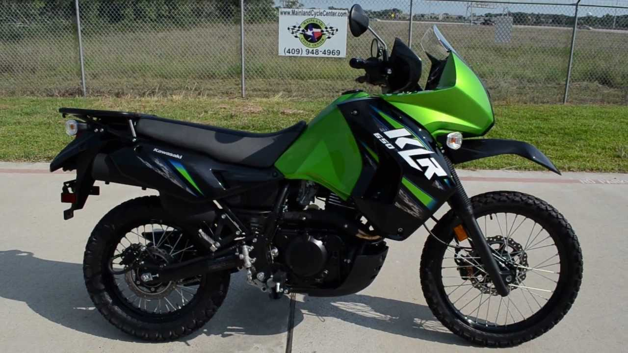 On Sale $5,499: 2013 Kawasaki KLR650 in Candy Lime Green - YouTube