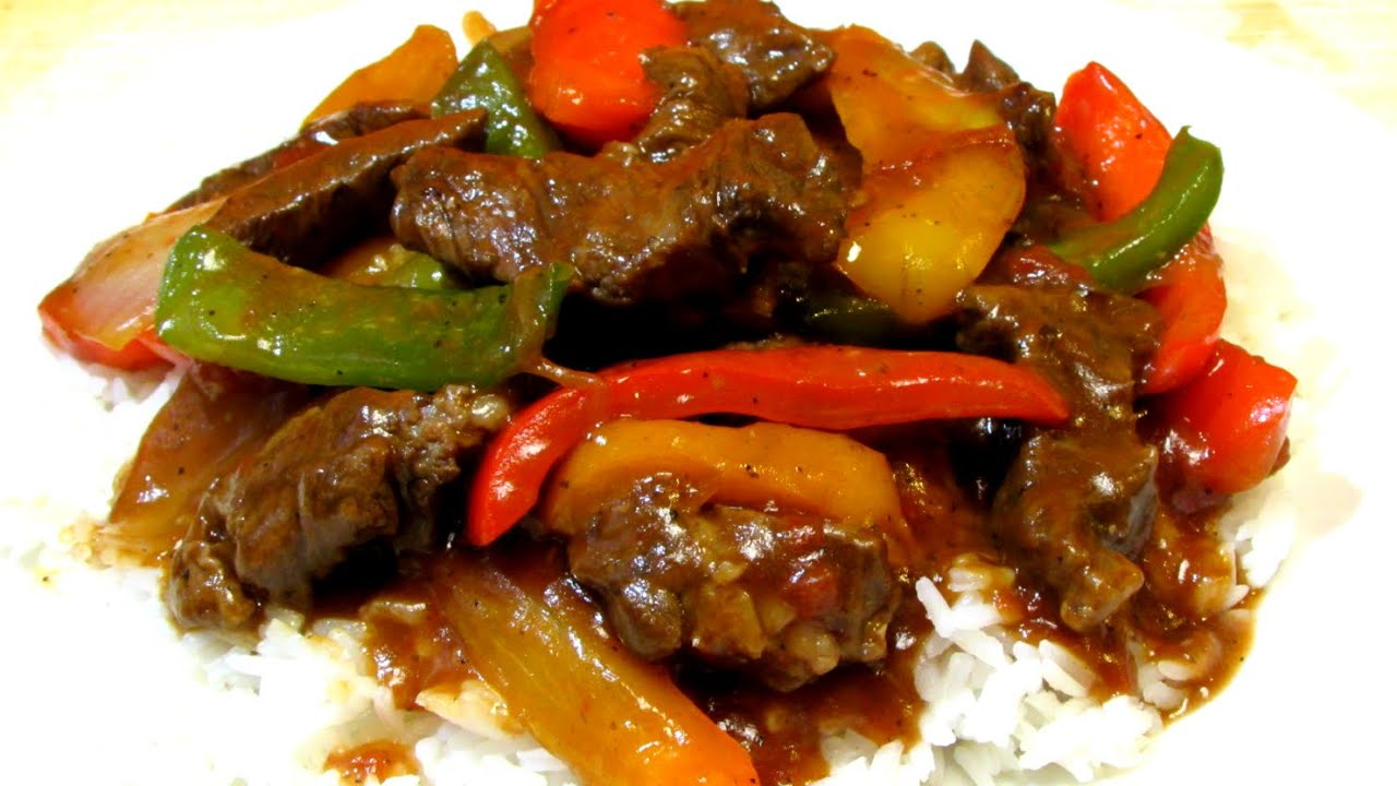 Pepper steak recipe slow cooked pepper steak youtube forumfinder Image collections
