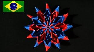 Origami: Fogos de Artifício / Fireworks ( Yami Yamauchi ) - Instruções em português PT BR