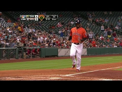 OAK@HOU: Altuve puts Astros on the board with double